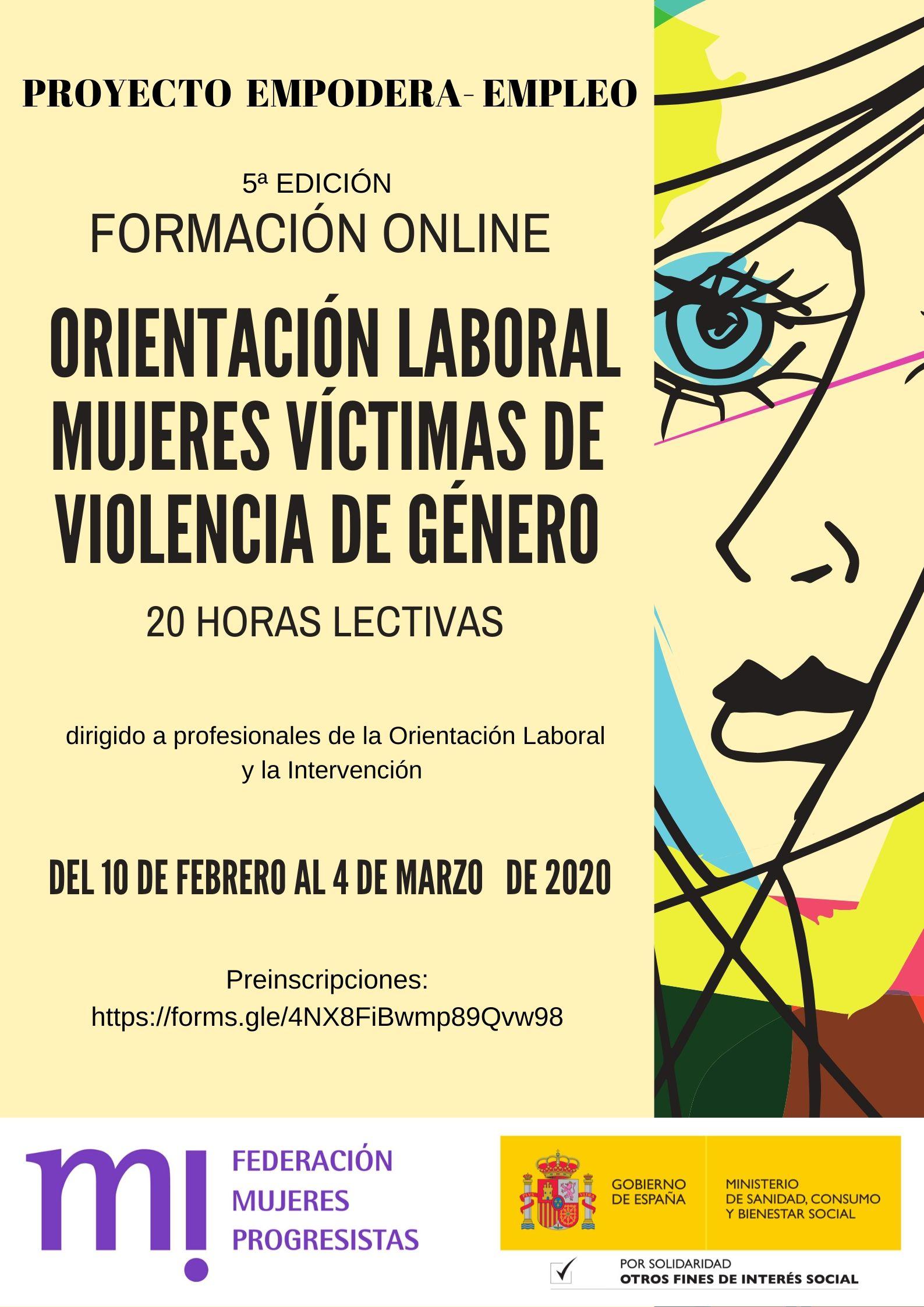 Course Image 5ª Edición.  Orientación laboral a Mujeres Víctimas de Violencia de Género.