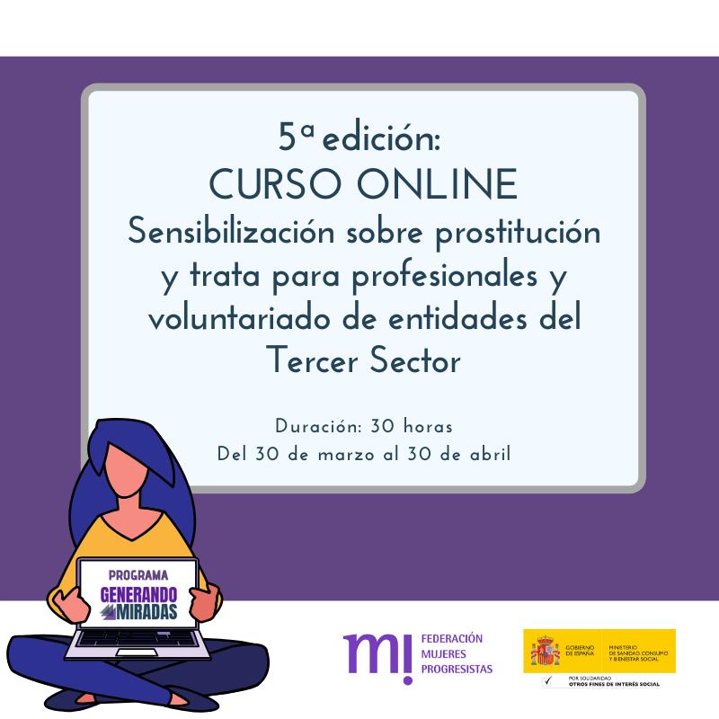 Course Image 5ª edición: Sensibilización sobre prostitución y trata para profesionales y voluntariado de entidades del Tercer Sector