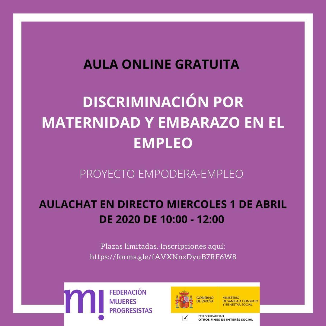 Course Image Aulachat Discriminación por maternidad y embarazo en el empleo abril 2020