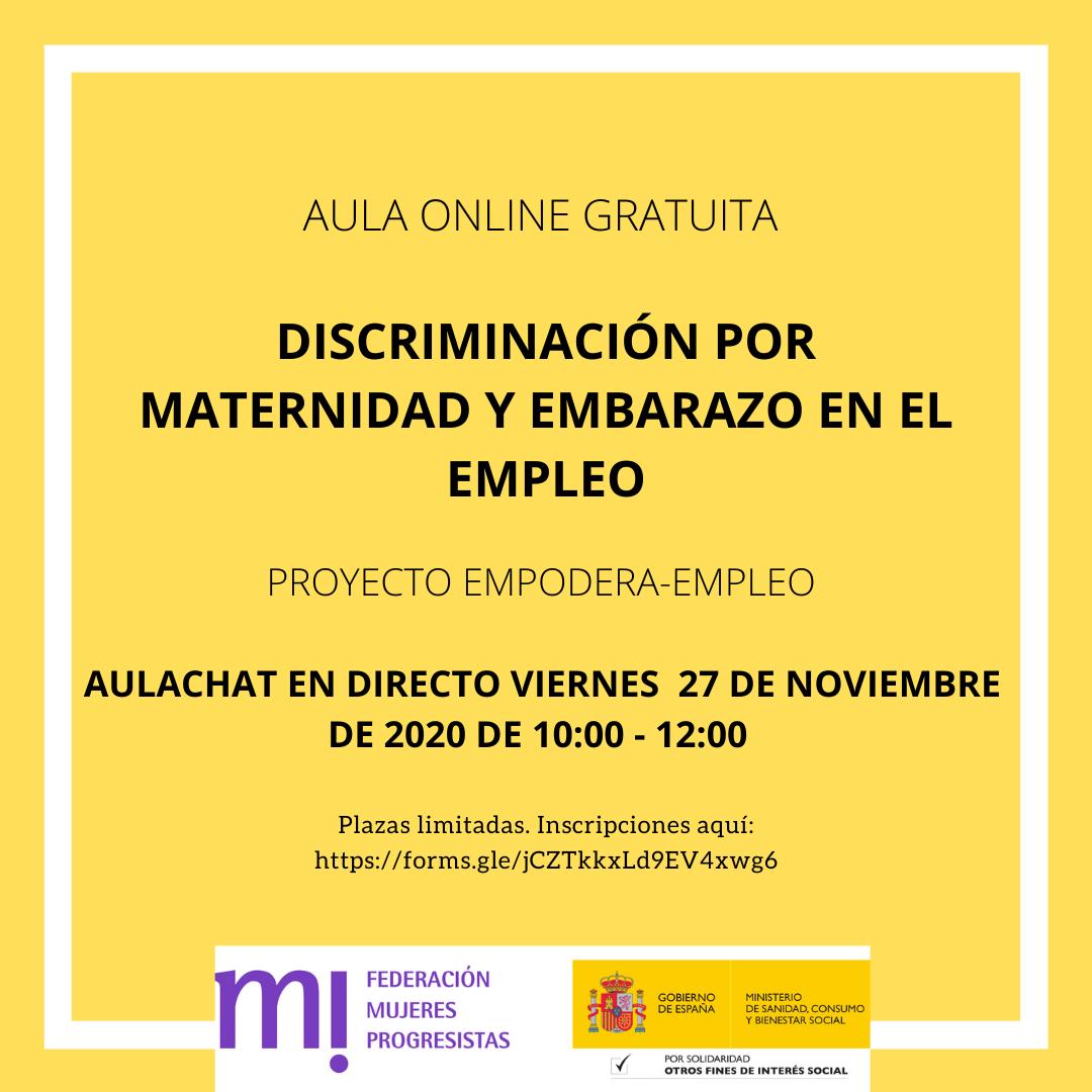 Course Image Aulachat Discriminación por maternidad y embarazo en el empleo Noviembre 2020