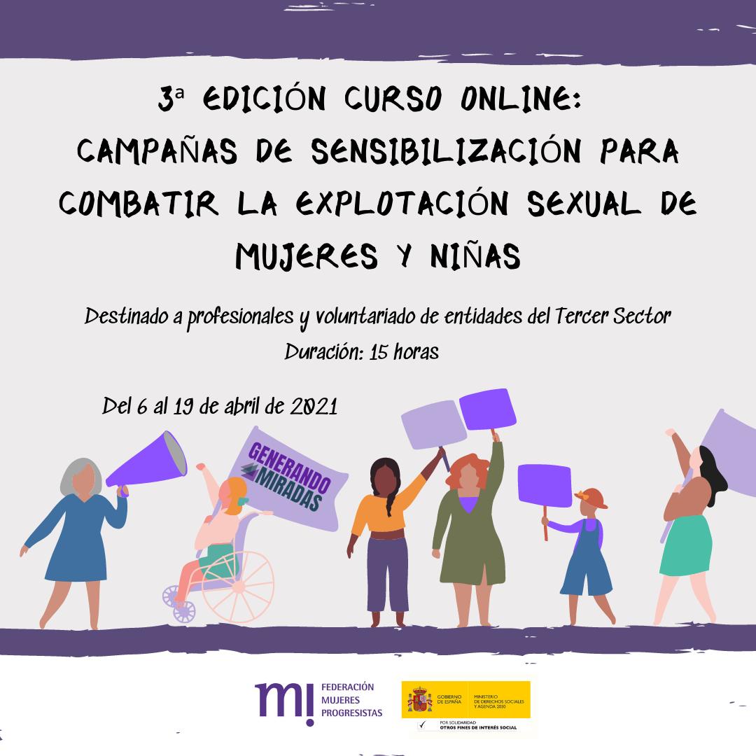 Course Image 3ª edición: Campañas de sensibilización para combatir la explotación sexual de mujeres y niñas