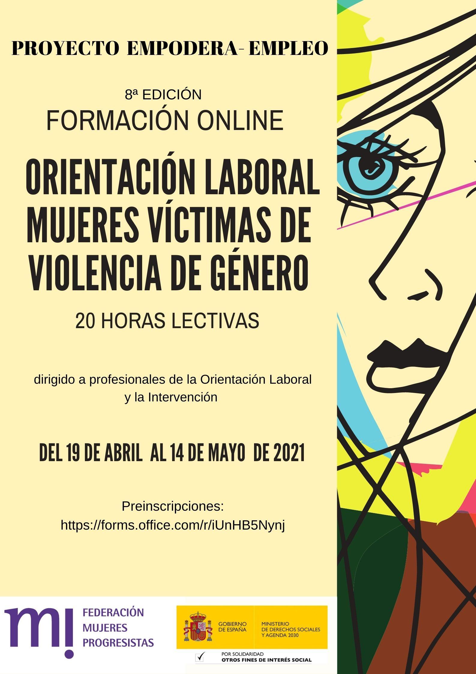 Course Image 8ª Edición.  Orientación laboral a Mujeres Víctimas de Violencia de Género.