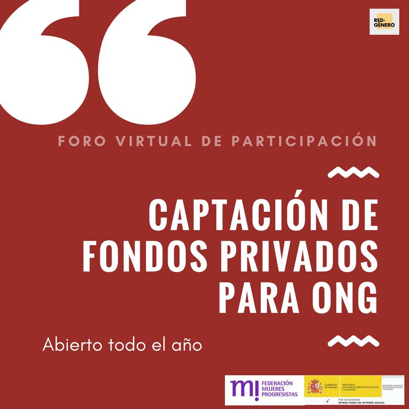Course Image Foro virtual sobre Captación de Fondos Privados para ONG