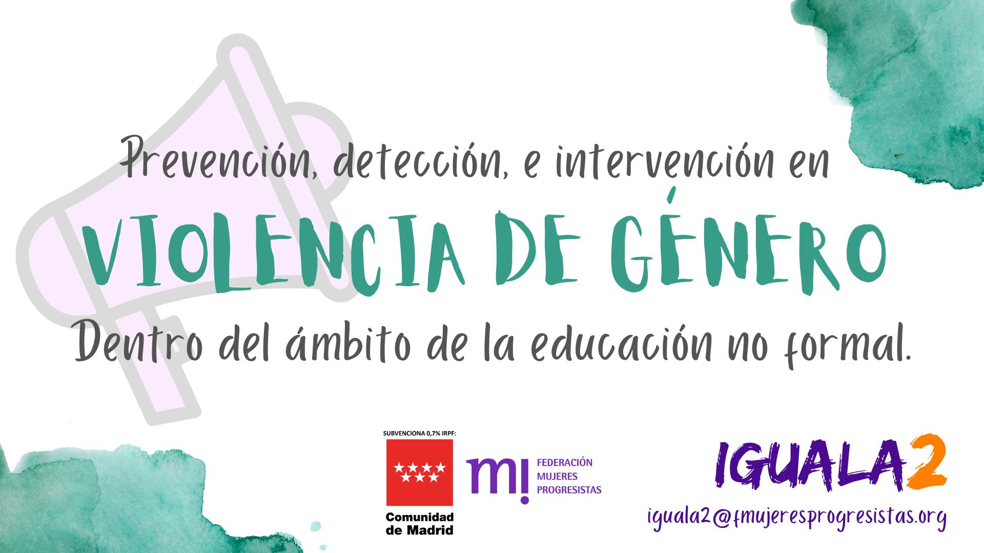 Course Image Itinerarios de especialización en violencia de género dentro del Ámbito de la Educación No Formal (Agosto 2021)