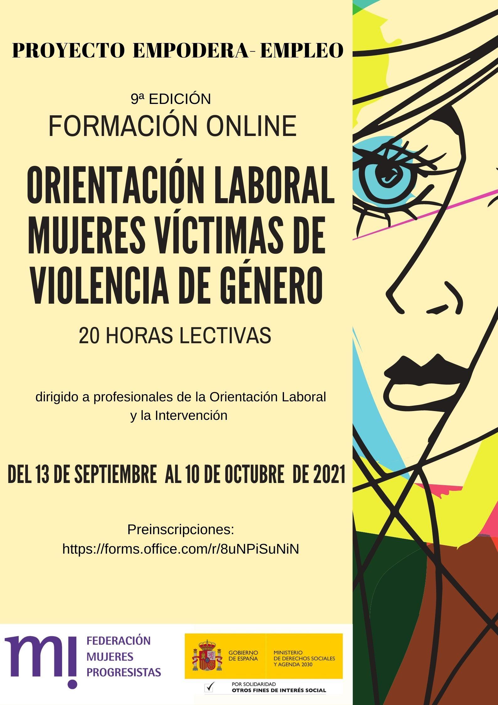 Course Image 9ª Edición.  Orientación laboral a Mujeres Víctimas de Violencia de Género.