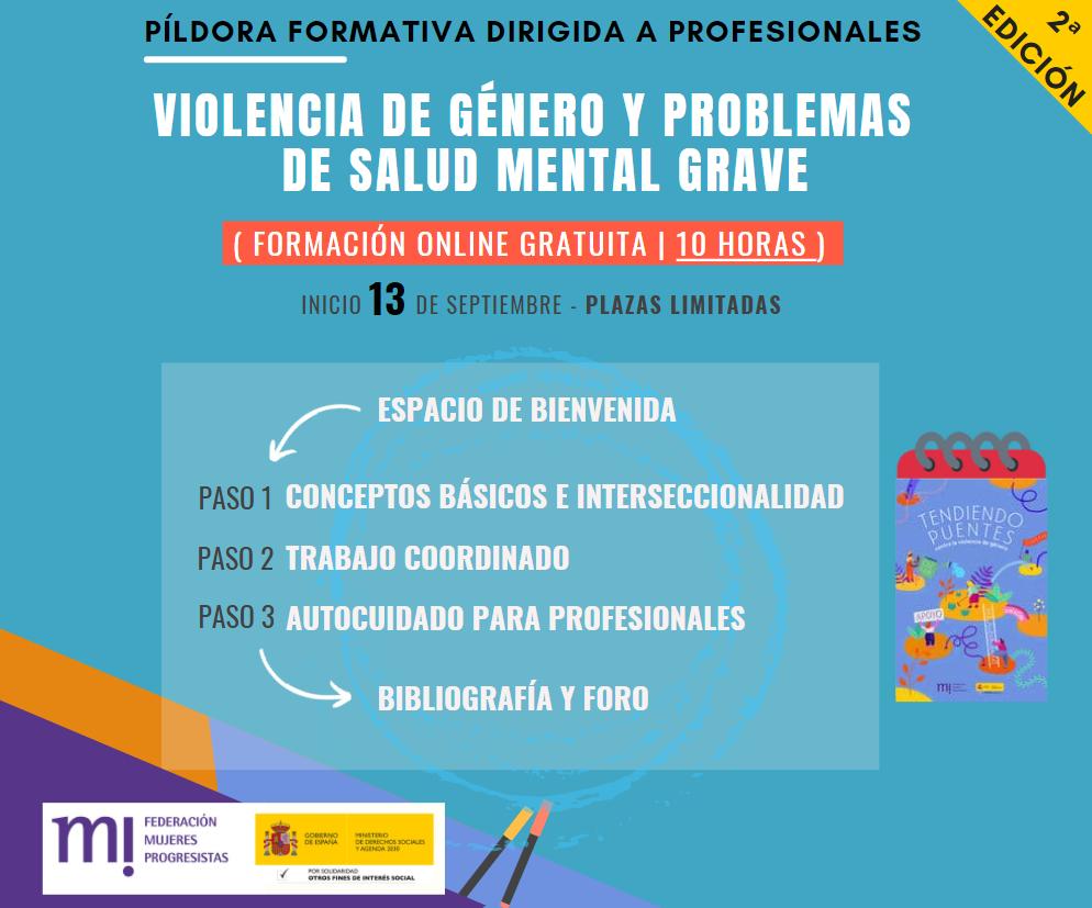 Course Image 2ª Edición. Píldora Formativa: Violencia de género y problemas de salud mental grave