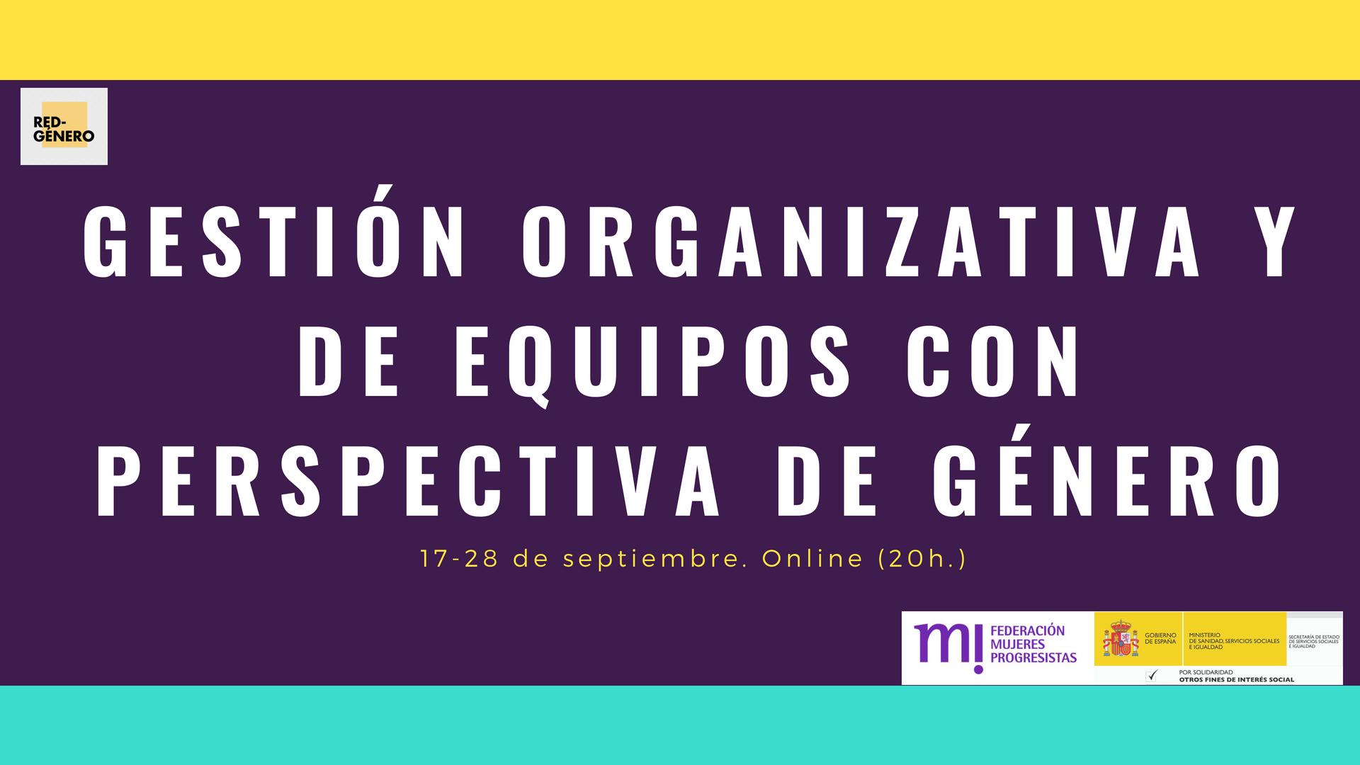 Course Image Gestión organizativa y de equipos con perspectiva de género