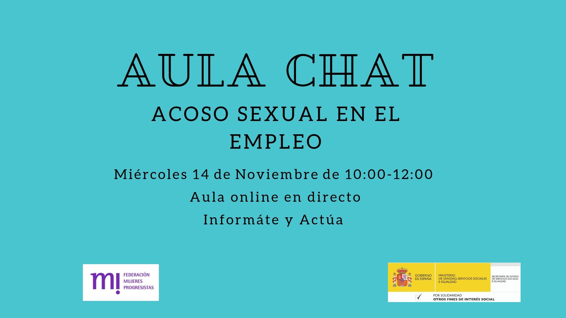 Course Image Aula Online: Acoso Sexual en el Trabajo. Infórmate y Actúa.