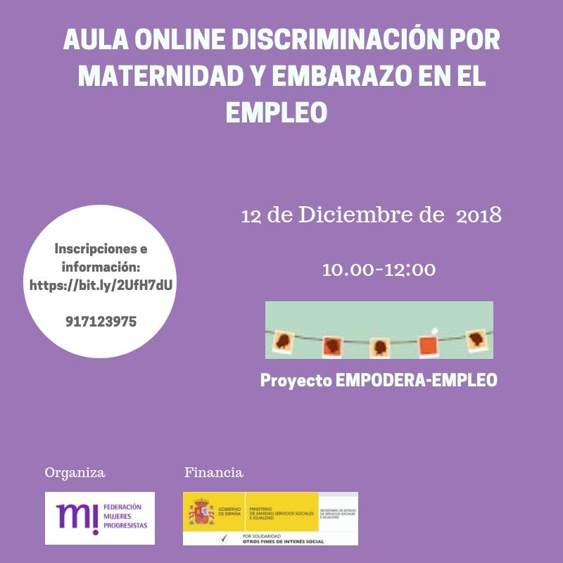 Course Image Aulachat Discriminación por maternidad y embarazo en el empleo