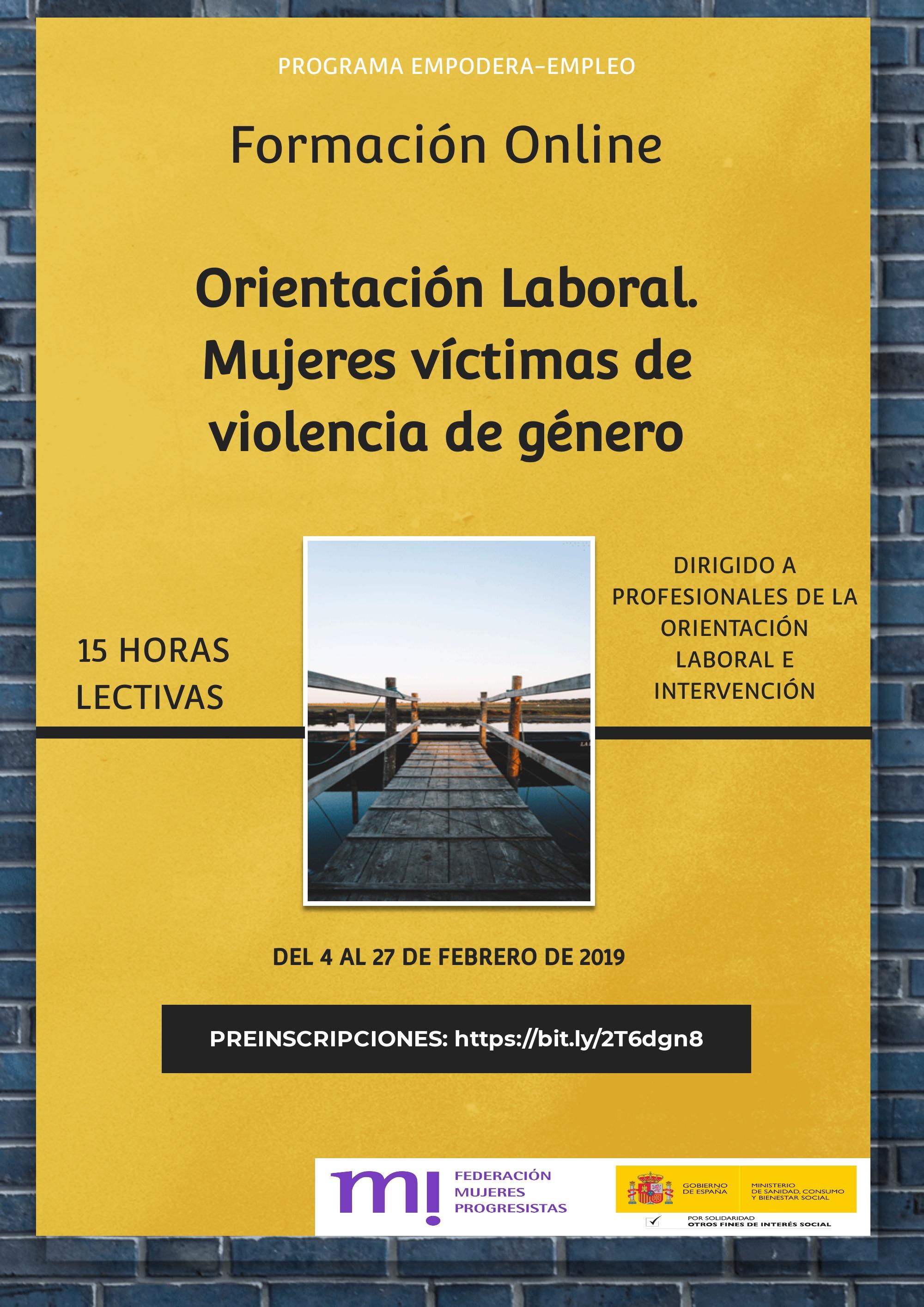 Course Image 3ª Edición.  Orientación laboral a mujeres víctimas de violencia de género.