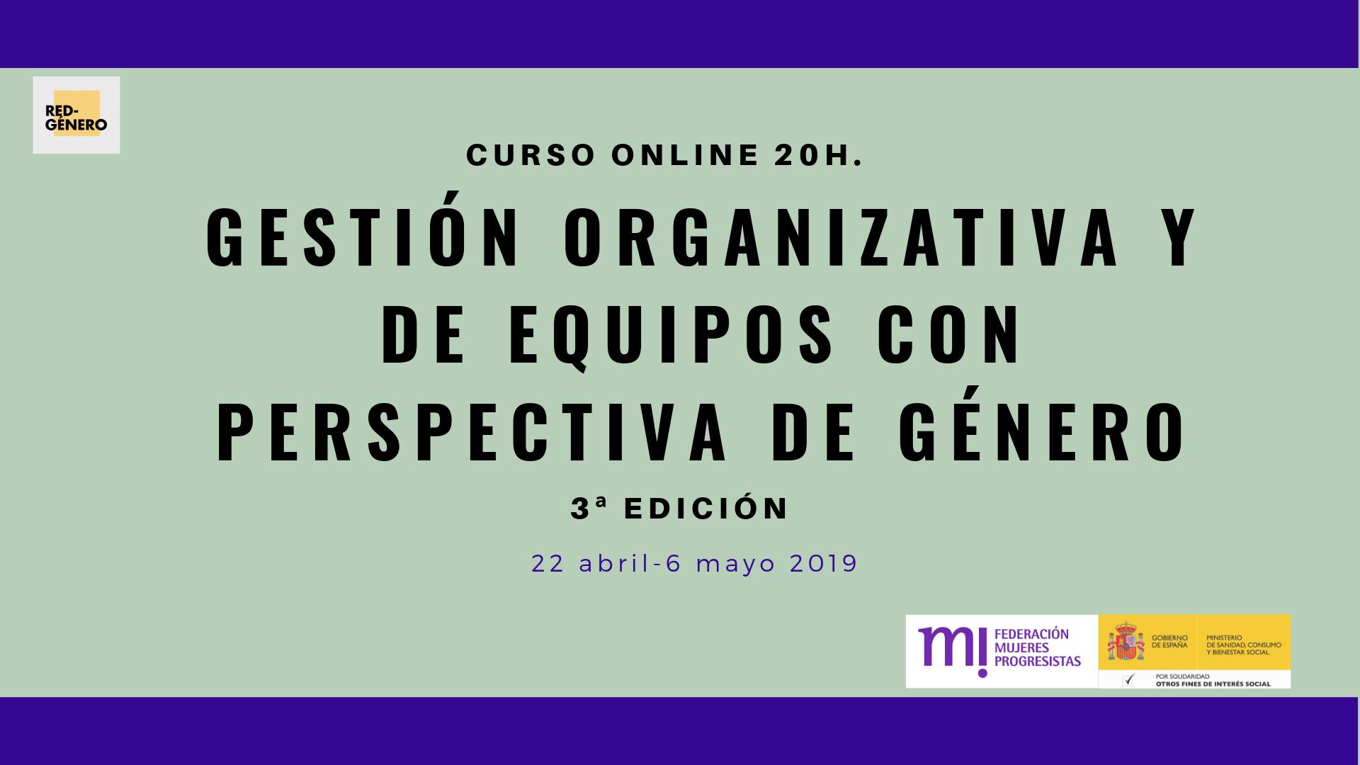 Course Image 3ª Edición. Gestión organizativa y de equipos con perspectiva de género