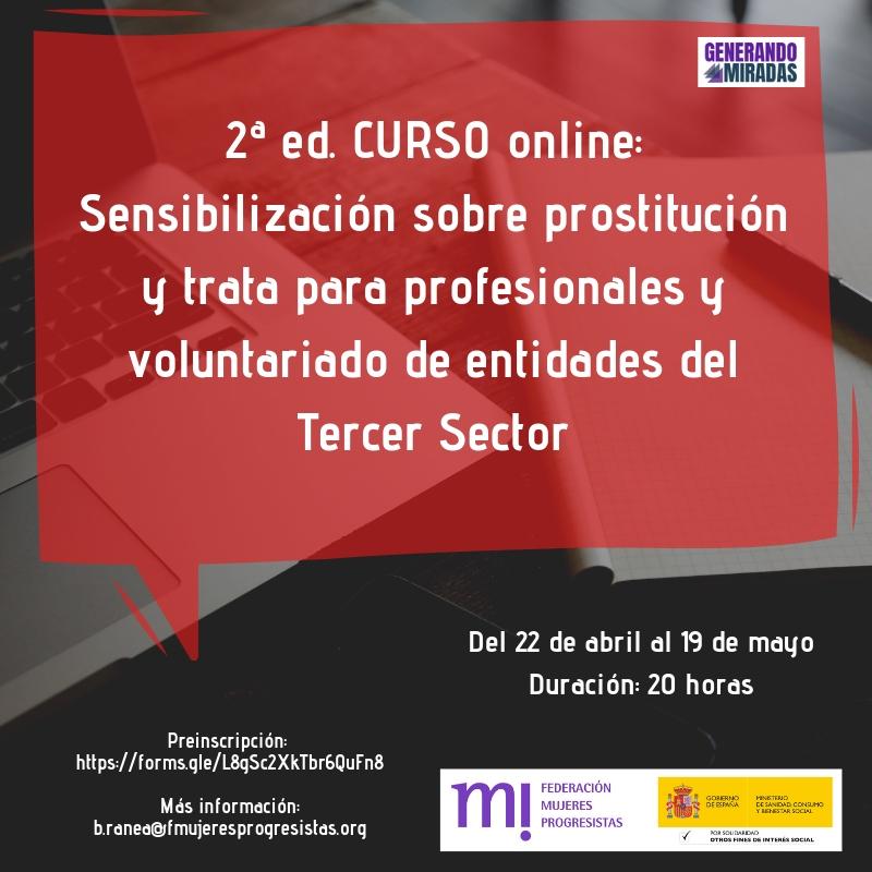 Course Image 2ª edición: Sensibilización sobre prostitución y trata para profesionales y voluntariado de entidades del Tercer Sector