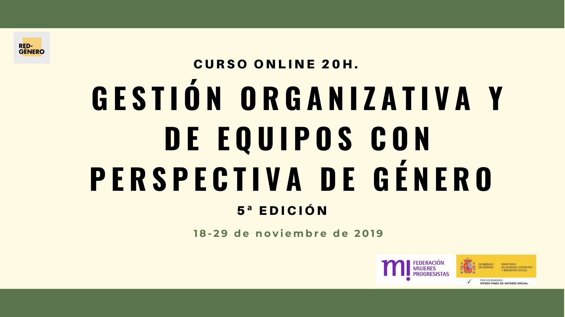 Course Image 5ª Edición. Gestión organizativa y de equipos con perspectiva de género