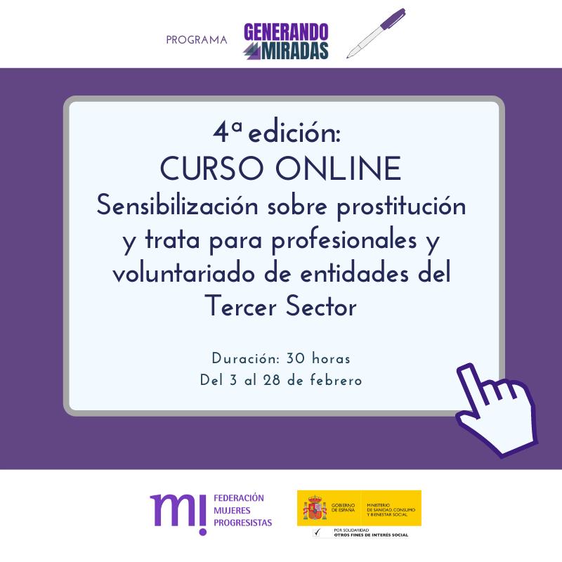 Course Image 4ª edición: Sensibilización sobre prostitución y trata para profesionales y voluntariado de entidades del Tercer Sector